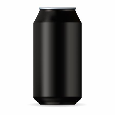 Realistic black aluminum can