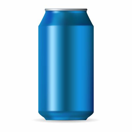 Realistic blue aluminum can