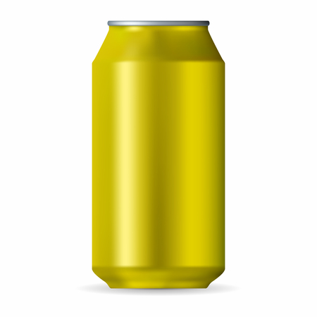 Realistic yellow aluminum can
