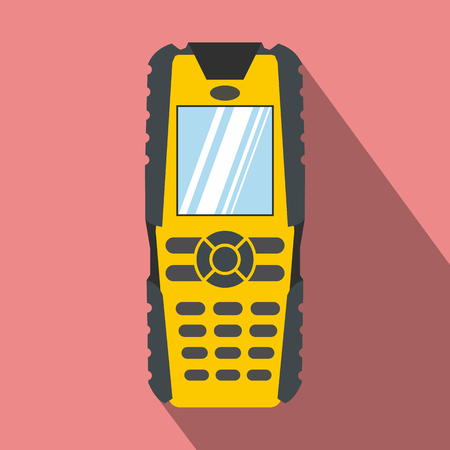 Mobile phone flat icon on a pink background Reklamní fotografie