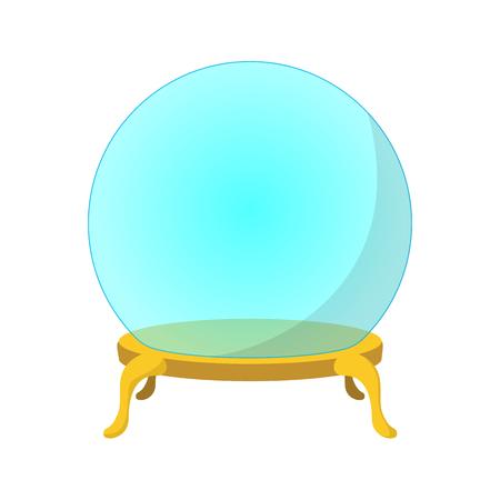 Empty glass ball cartoon icon