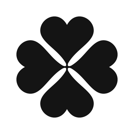 Four-leaf clover black simple icon