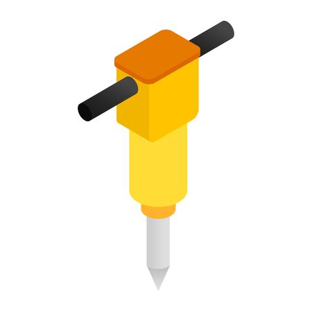 Jackhammer isometric 3d icon 写真素材