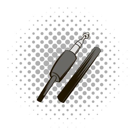 Audio plug comics icon