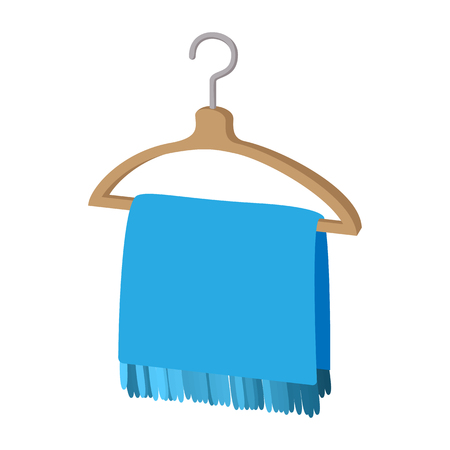 Scarf on coat-hanger cartoon icon Stock Photo
