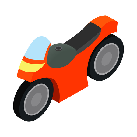Motorcycle racing isometric 3d icon