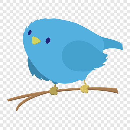 Blue bird on the branch Stock Photo
