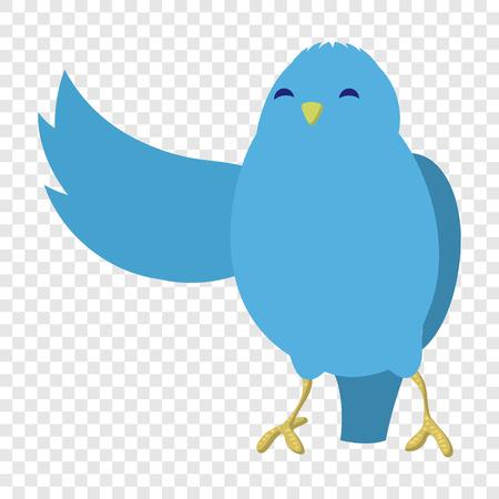 Talking blue bird illustration Stock Photo