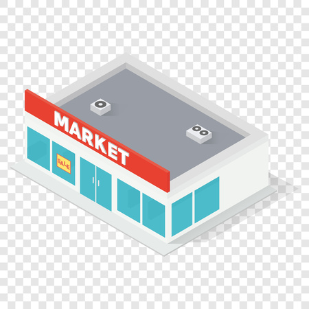 New isometric supermarket building