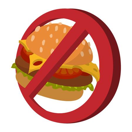 Fast food danger cartoon icon