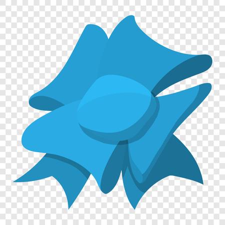 Cartoon bow blue sign