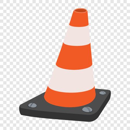 Road traffic orange cartoon cone