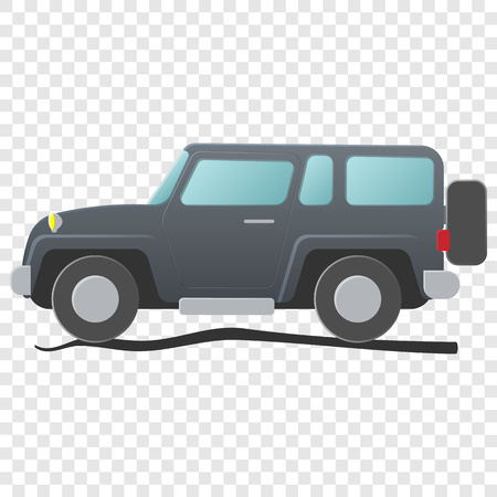 Sport utility vehicle. Cartoon illustration