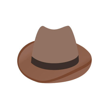 Cowboy hat isometric 3d icon on a white background