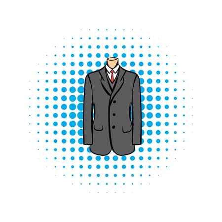 Wedding jacket comic icon isolated on a white background