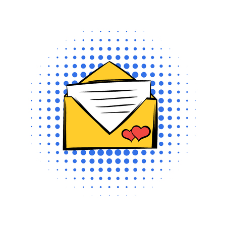 Wedding invitation comics icon isolated on a white background