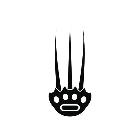 Tekkokagi black simple icon isolated on white background