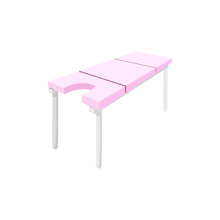 Massage table cartoon icon on a white background