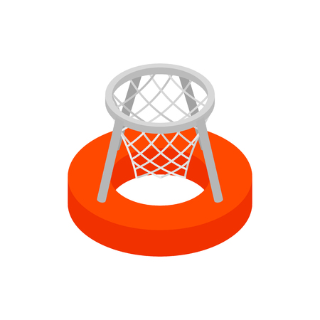 Basket on the water 3d isometric icon isolated on a white background