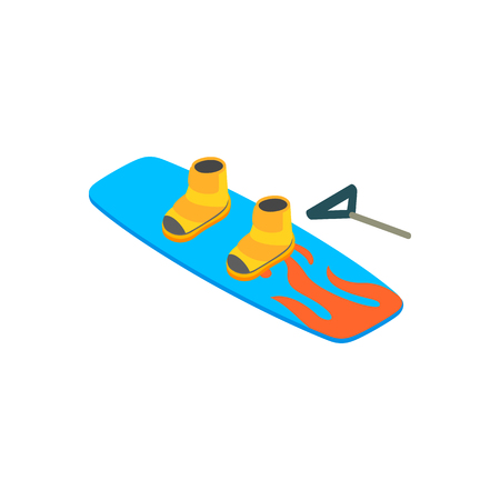 Water board isometric 3d icon