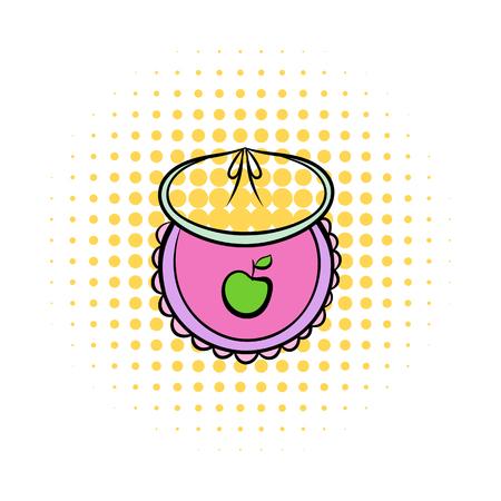 Baby bib comics icon