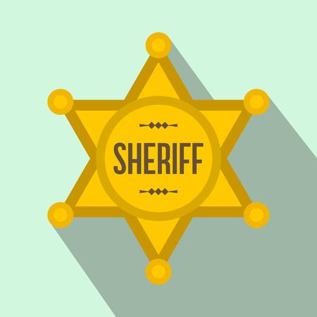Sheriff star flat icon Stock Photo