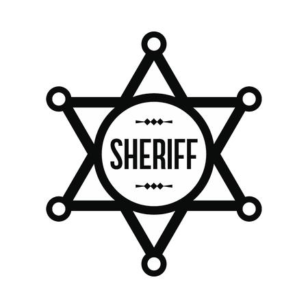 Icono de estrella del sheriff