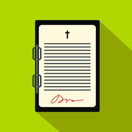 Testament letter flat icon 版權商用圖片