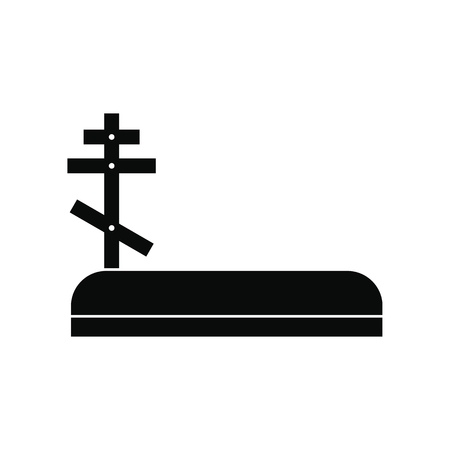 Cemetery black simple icon Stock Photo