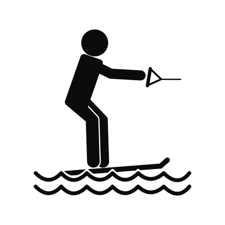 Water skiing icon