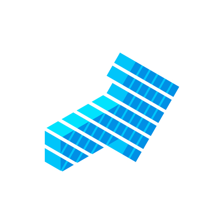 Blue arrow isometric 3d icon