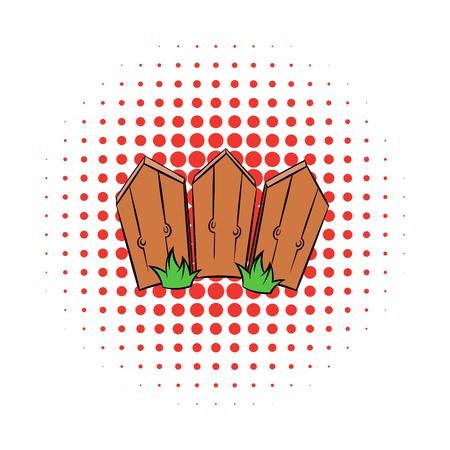 Wooden fence comics icon