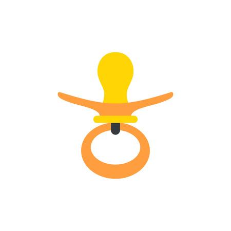 Nipple flat icon isolated on white background