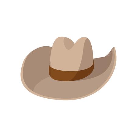Cowboy hat cartoon icon on a white background Stock Photo