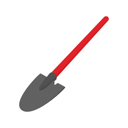 Shovel cartoon icon isolated on white background