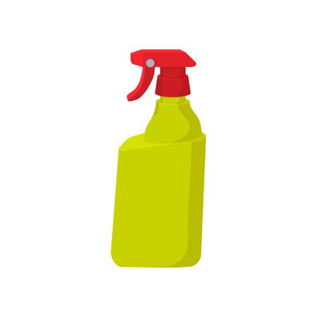 Plastic hand spray bottle cartoon icon on a white background