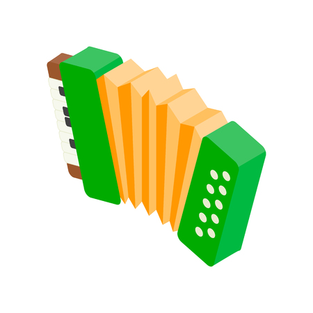 Accordion isometric 3d icon on a white background Stok Fotoğraf - 107561036