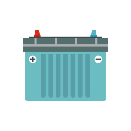 Car battery flat icon isolated on white background Foto de archivo - 107563184