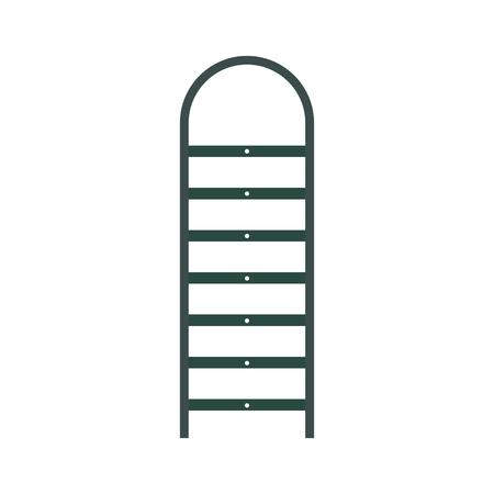 Ladder flat icon isolated on white background