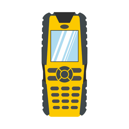 Mobile phone flat icon isolated on white background