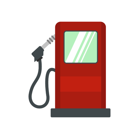 Gas station flat icon isolated on white background
