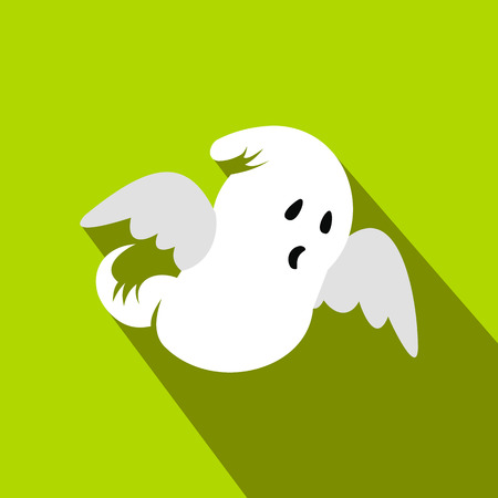 Ghost flat icon with shadow for web and mobile devices