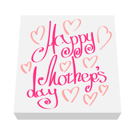 Greeting card for Mothers Day cartoon icon on a white background