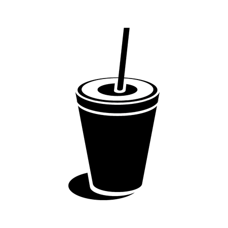 Paper cup icon in simple style on a white background Foto de archivo