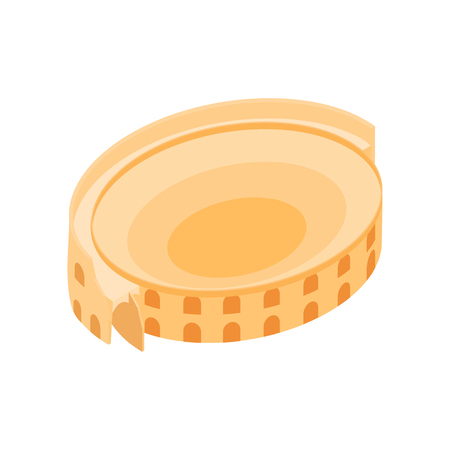 Roman Colosseum icon in isometric 3d style on a white background