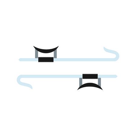 Ninja weapon flat icon isolated on white background