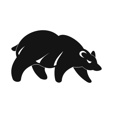 Bear icon in simple style isolated on white