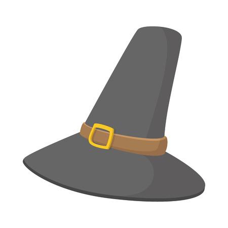 Gorgeous pilgrim hat cartoon icon on the white background Stock Photo