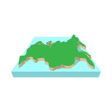 Russia map icon in cartoon style on a white background