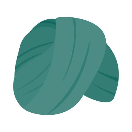 Indian Headgear Turban icon, isometric 3d style